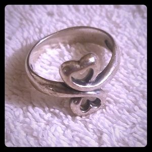 James Avery Double Heart Ring size 9.5/10